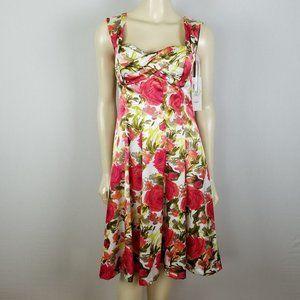 Maggy London floral sleeveless dress sz 4